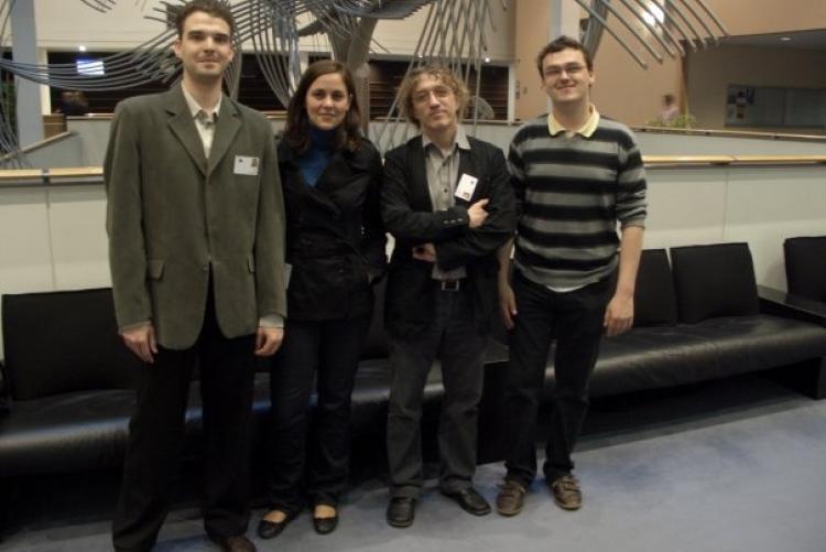 Zoltán Dóczi, Szilvia Váradi, István Hegedűs and Szabolcs Tóth in the European Parliament
