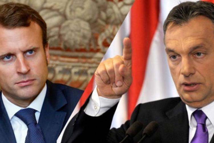 Macron és Orbán
